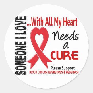 Blood Cancer Needs A Cure 3 Round Sticker