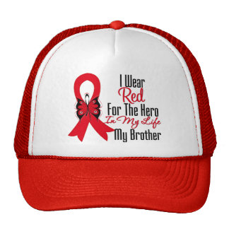 Blood Cancer Ribbon Hero in My Life My Brother Cap