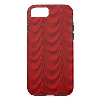 Blood Red Velvet and Black Lace Plush Fabric iPhone 7 Case