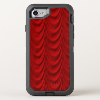 Blood Red Velvet and Black Lace Plush Fabric OtterBox Defender iPhone 7 Case