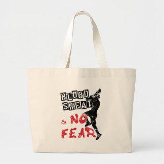 Blood Sweat & No Fear Lacrosse Tote Bag