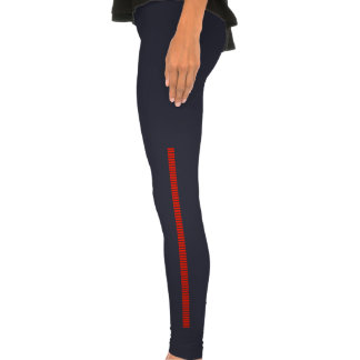 Bloodstripes red legging tights