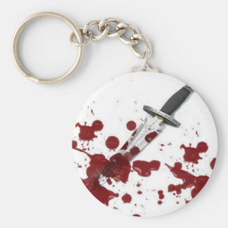 Bloody Dagger Basic Round Button Key Ring
