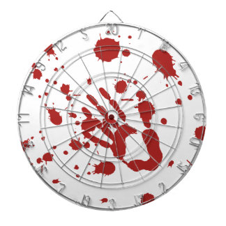 Bloody Hand Blood Spatter Halloween Party Games Dart Boards