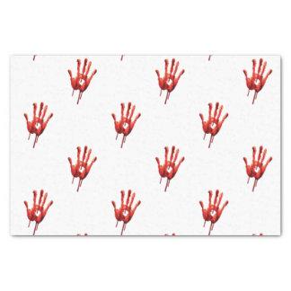 "Bloody Hand Print 10"" X 15"" Tissue Paper"