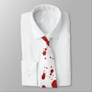 Bloody Hand Print Blood Spatter Splatter Halloween Tie