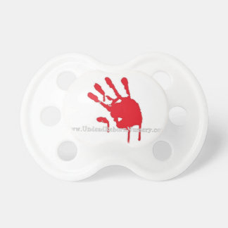BLOODY HAND PRINT PACIFIER