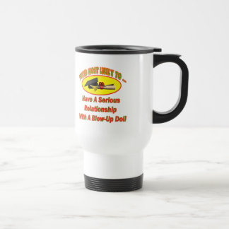 Blow-Up Doll Relationship Stainless Steel Travel Mug