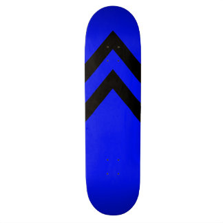 Blue and Black Chevrons Skateboard Deck