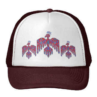 Blue And Red Southwestern Art Thunderbird Cap
