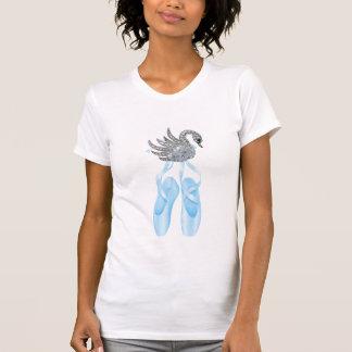Blue Ballet Shoes Swan Tshirts
