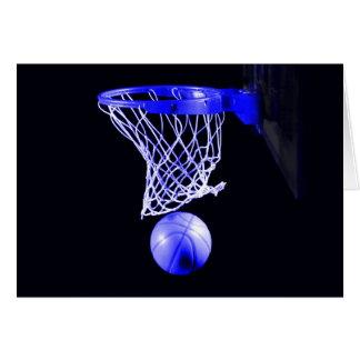 Blue Basketball Greeting Card