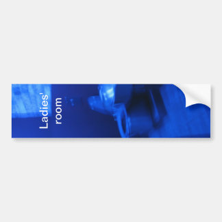 Blue Bathroom bumper sticker
