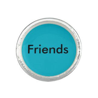 Blue Bro Friends Round Ring