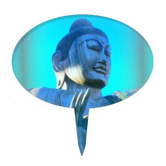 blue buddha cake pick