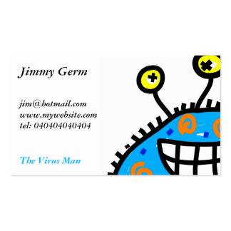 Blue Cartoon Germ Pack Of Standard Business Cards