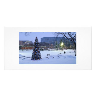 Blue Christmas, Calgary, Alberta, Canada Personalized Photo Card