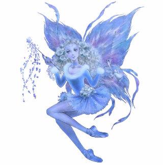 Blue Christmas Fairy Ornament Photo Sculpture Decoration