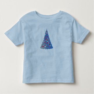 Blue Christmas tree, red bulbs Shirt