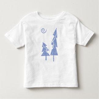 blue Christmas Trees Tshirts