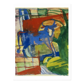 Blue Cow, 1914 (tempera on paper) Postcard