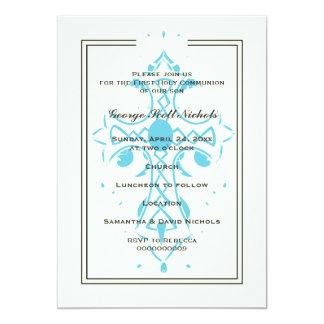 Blue Cross First Communion Baptism Confirmation 13 Cm X 18 Cm Invitation Card