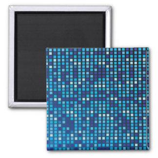 Blue Cubes Square Magnet