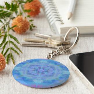 Blue Dancer Basic Round Button Key Ring