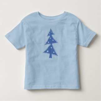 blue decorated christmas tree t-shirt