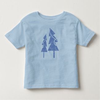blue decorative Christmas trees T-shirts