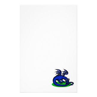 Blue Dragon Biting Tail Custom Stationery