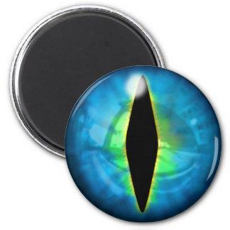 Blue Dragon Eye 6 Cm Round Magnet