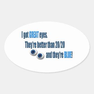 Blue Eyes Oval Sticker