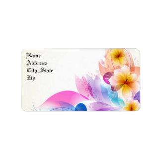 Blue Floral Address Mailing Labels