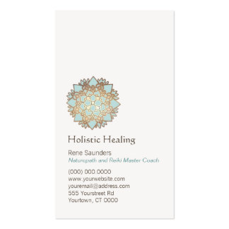 Blue Gold Lotus Holistic and Natural Health Pack Of Standard Business Cards