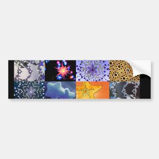 Blue & Gold Stars Photos Collage Bumper Sticker