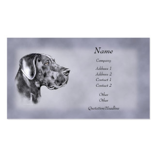 Blue Great Dane Uncropped Business Cards