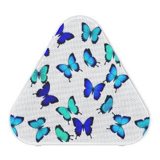 Blue Green Tropical Butterflies Pieladium Speaker