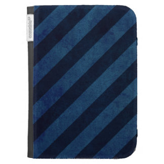Blue Grunge Stripes Kindle Covers