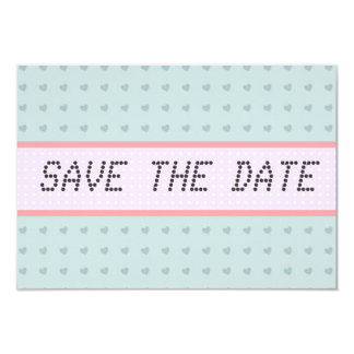 Blue Hearts telegram Vintage Save the Date 9 Cm X 13 Cm Invitation Card