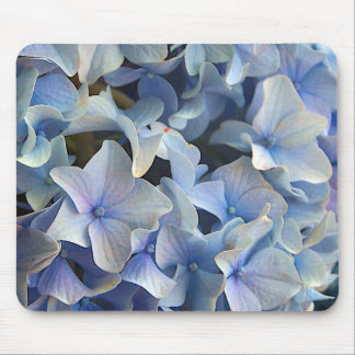 Blue Hydrangea Flowers Mouse Pad
