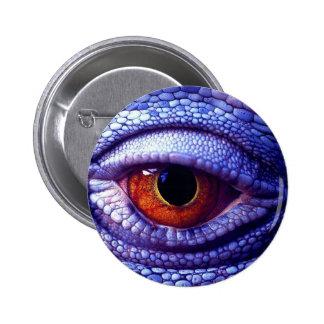 Blue Lizard Eye 6 Cm Round Badge
