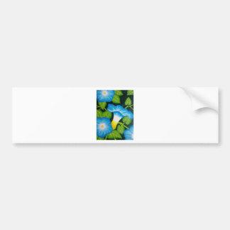 Blue Morning Glories Bumper Sticker