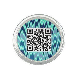 Blue Navajo QR CODE Ring