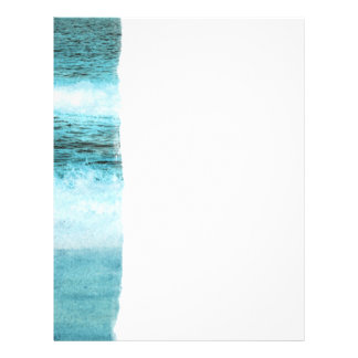 Blue Ocean Waves Beach 21.5 Cm X 28 Cm Flyer