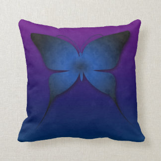 Blue Ombre Butterfly Pillow Throw Cushions