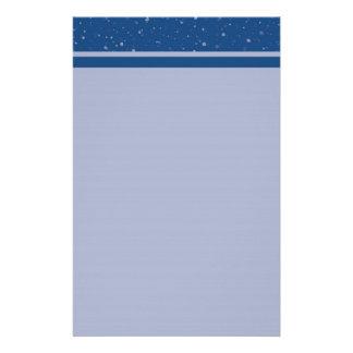 Blue Paint Splatter Stationery
