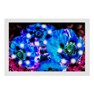 BLUE POPPY SPIRITS POSTER