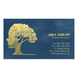 Blue Psychologist Personal Counselor Appointment Pack Of Standard Business Cards