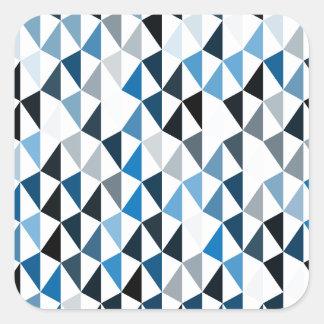 blue pyramid pattern 03 square sticker